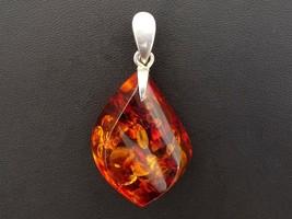 Large Baltic Amber Nugget Pendant Sterling Silver ~ Polish Hallmarks ~ KONA - $45.00