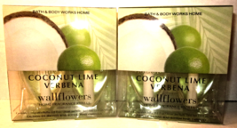2 bx Bath & Body Works Wallflower Diffuser Refill Bulb  Coconut Lime Verbena - $37.99