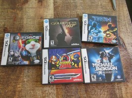 Lot of 5 Nintendo DS Games GoldenEye 007 Tron Kung Zhu Michael Jackson G-force - $28.84