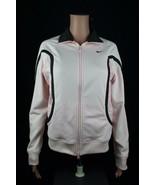 Nike vintage women's sport jacket pink long sleeve zipper made in Taiwan... - $28.56
