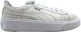 Puma Basket Platform Woven Puma White/Puma Silver 364847 02 Women's Size 6 - $42.29