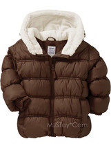 NWT Hooded Frost-Free Quilted Warm Jackets Girl Toddler Faux Fur Coat Sz... - $44.99