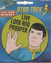 Star Trek: The Original Series Live Long and Prosper Logo Car Magnet, NEW UNUSED - $3.99