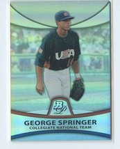 GEORGE SPRINGER REFRACTOR RC SER# 897/999 2010 Bowman Platinum Prospects... - $11.99
