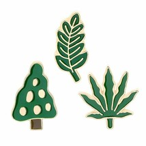 Brooch Pin New Men Women Green Tree Leaf Enamel Breastpin Scarf Hat Jewelry Gift - $6.16