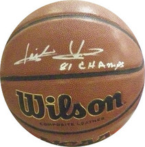 Isiah Thomas signed NCAA Wilson Indoor/Outdoor Basketball 81 Champs (Ind... - $123.95