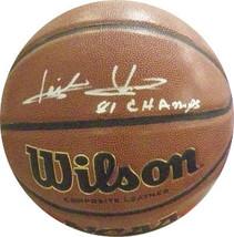 Isiah Thomas signed NCAA Wilson Indoor/Outdoor Basketball 81 Champs (Indiana Hoo - $123.95