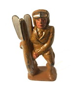 Manoil 85 Aviator Holding Bomb American Dimestore Vintage Toy Soldier - $24.95
