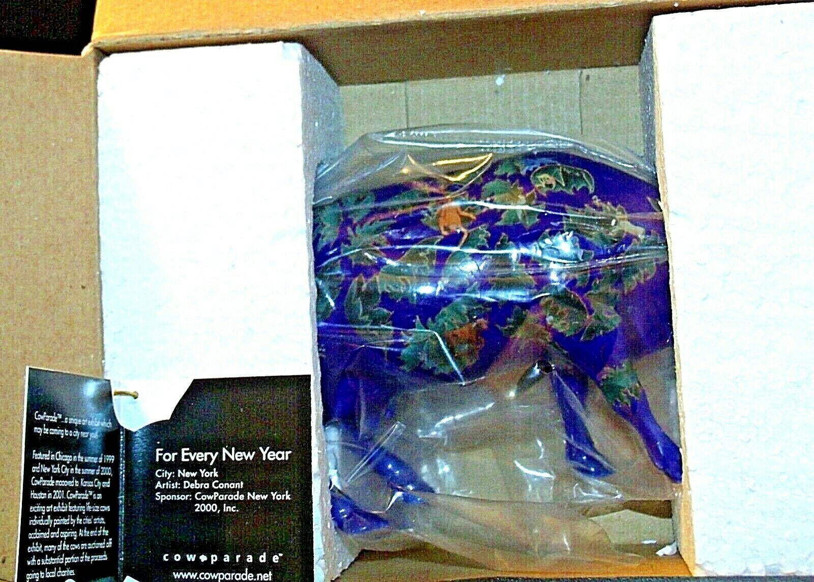 """CowParade """"For Every New Year"""" # 9184Westland Giftware AA-191869 Vintage Coll"""