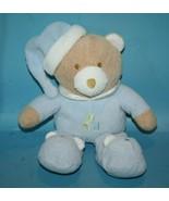 """Baby Essentials ABC Teddy Bear 12"""" Rattle Baby Toy Blue Plush Stuffed Sl... - $38.67"""