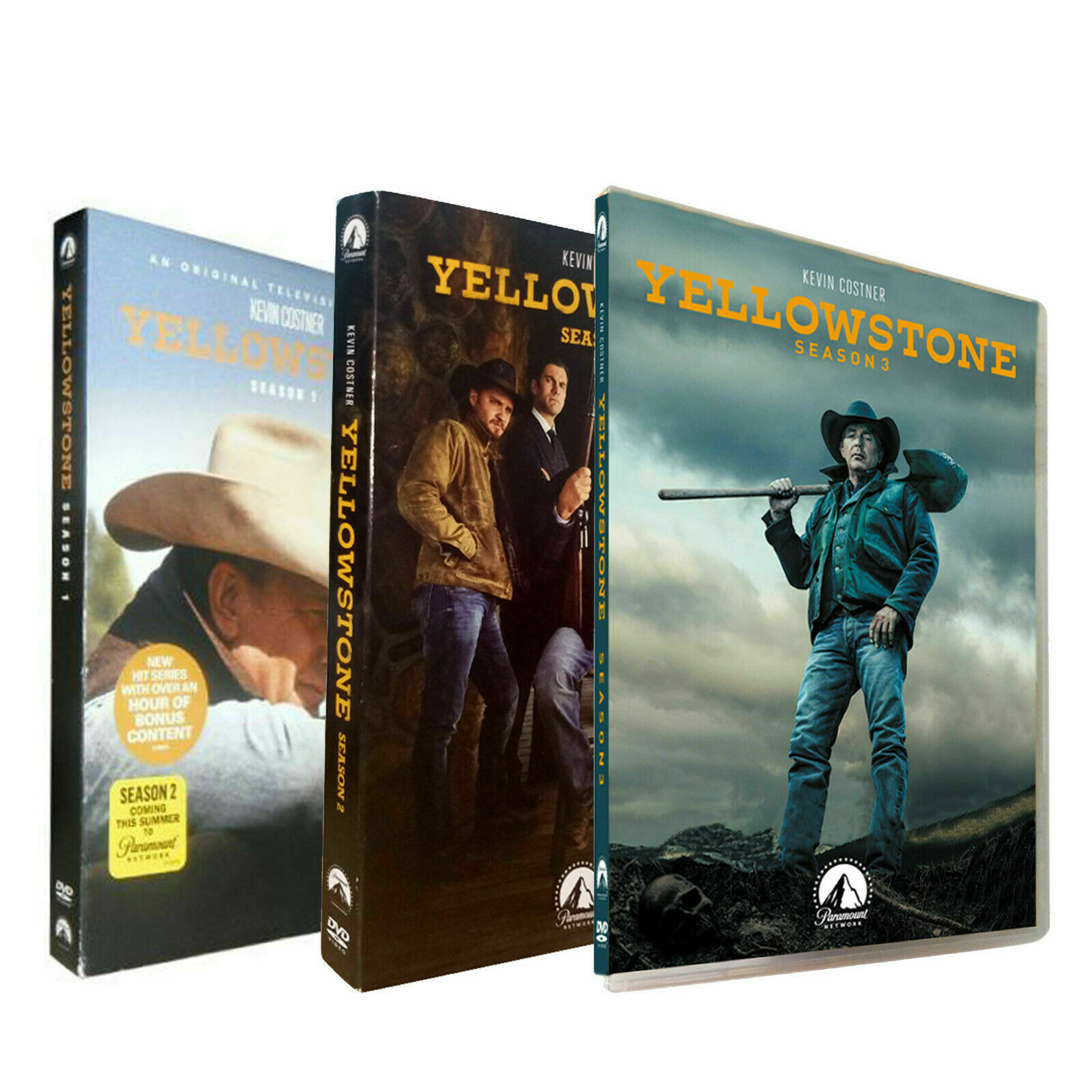 Primary image for Yellowstone Complete Series Season 1 2 3 (DVD ,12-Disc Set) Brand New