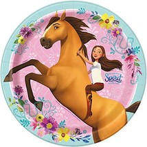 "Unique Spirit Riding Free Dinner Party Plates, 8 Ct., Multicolor, 9"" (79205) - $9.85"
