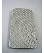 MONEY CLIP WITH A RIDGED DESIGNER PATTERN  IN STERLING SILVER - $65.41