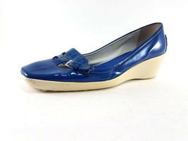 Tod's Bleu Cuir Verni à Enfiler Pumps, Femmes Chaussures Taille US 7.5 /... - $164.64