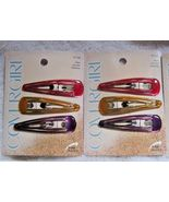 "6 Covergirl Goody 2.5"" Epoxy Covered Double Bar Hair Snap Clip Contour B... - $12.00"