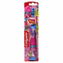 New Colgate Slim Handle Dreamworks Trolls Poppy Electric Powered Toothbrush