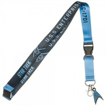 Star Trek Blue Member U.S.S. Enterprise ID Badge Holder Keychain Lanyard - $11.00