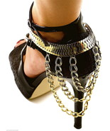 Shoe Anklet New Three Tier Heel Chain 10 Inches Plus 2 Inch Ext. 6 Inch ... - $18.38