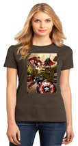 Avengers Captain America Hulk Iron Man Thor Ladies Crew T-Shirt Size XS To 4XL - $19.99+