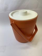 RETRO Vintage Rubbermaid Plastic ORANGE & WHITE Ice Bucket Drink Cooler ... - $12.34