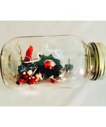 Bottle of Miniatures, Vintage Mason Jar, Christmas Trim, Decorations, Ho... - $15.00