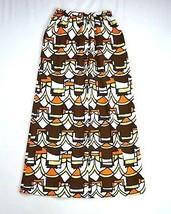 Vintage 70s Retro All Over Print Bohemian Hippie Long Maxi Hippie Skirt ... - $19.79