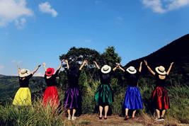 Blue Green A-Line Knee Length Ruffle Skirt Taffeta High Waist Pleated Skirt NWT image 9