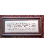 It's A Wonderful Life christmas cross stitch chart Waxing Moon Designs - $8.00