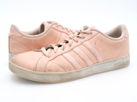 Adidas Womens 9 Baseline Vapour Pink Leather Lace Up Running Sneakers EUR 41.5 - $29.99