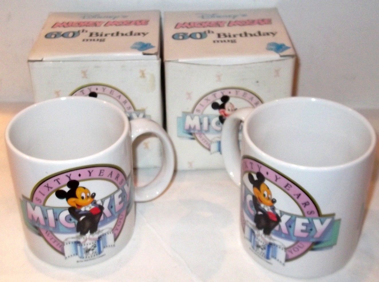 Primary image for LOT of 2 BRAND NEW - SCARCE ✰ DISNEY 60th Birthday MICKEY MUG Applause