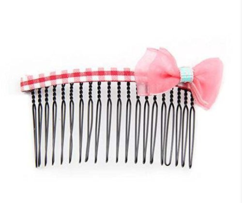 Set of 3 Children Hair Accessories National Style Hairpins and Hair Comb, Pink