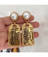 AUTH Chanel 2020 XL Letter Logo 31 Rue Cambon Pearl Gold Large Drop Earr... - $888.00