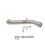 Motorcycle Exhaust Muffler Link Pipe For KTM 1290 Super Duke R 2014 2015... - $124.19