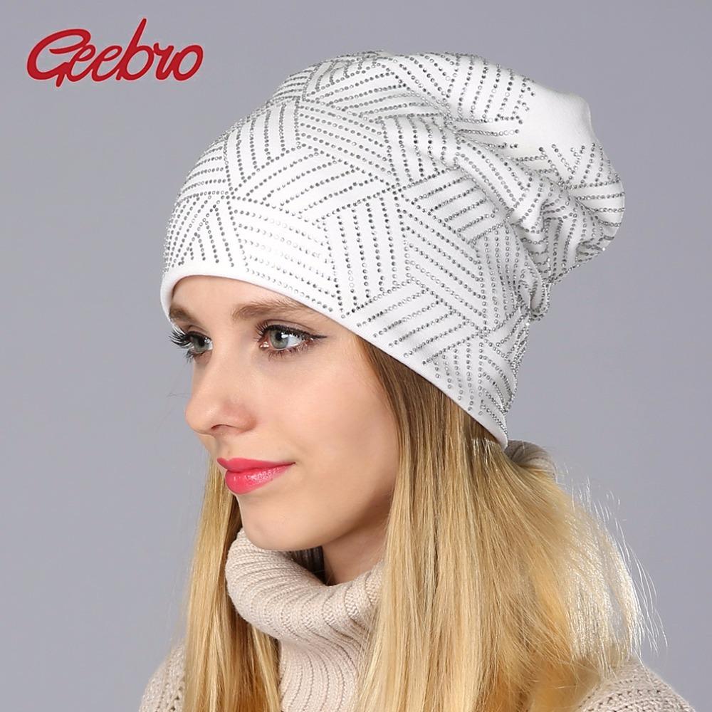 b60dc80edeef4 Nd new women s beanie hat casual knitted beanie for women shine rhinestones  beanies balaclava 49
