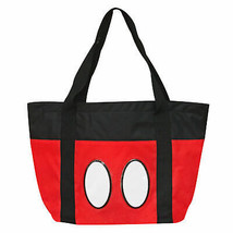 Mickey Mouse 16 X 13 Canvas Beach Bag Red - $24.98
