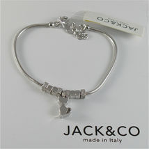 Silver 925 Bracelet Jack&co with Star Dog Butterfly Clover or Cat image 6