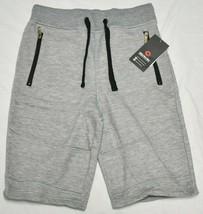 Akademiks Sweat Shorts Men's Size S Zip Pocket Fleece Grey Urban Streetw... - $22.95