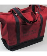 Brooks Brothers Canvas Tote Bag Shopping Bag Deep Red/Navy Blue. One Siz... - $22.44