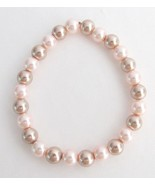 Pearl Stretchable Bracelet,Stretchable Bracelet,Glass Pearl Stretchable ... - $6.00