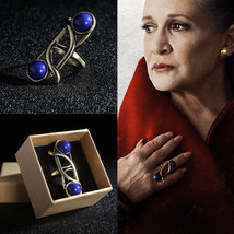 Princess Leia Ring Star Wars The Last Jedi Blue Ring Cosplay Prop - $14.55