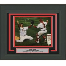 FRAMED Autographed/Signed BRAD LIDGE 08 WS Champs Phillies 16x20 Photo J... - $199.99