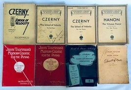 Vintage Piano School Of Velocity Music Books - Czerny Schirmers Library ... - $54.40