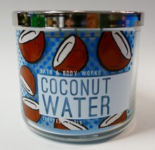 Bath & Body Works COCONUT WATER  Large Scented 3-Wick Candle-14.5oz- NIB - $18.95