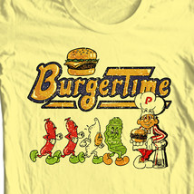 Burger Time T-shirt retro 80s arcade video game vintage 100% cotton graphic tee image 1