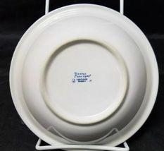 "Design Concepts Cereal Bowls Set of 4, 7"" Soup Bowls, White, Blue Trim Tulips image 8"