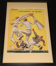 Vintage Texas Longhorns vs Idaho Football Framed 10x14 Poster Official R... - $46.39