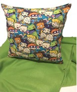 Rugrats Pillow And Blanket Rug Rats Pillow Cartoon Pillow Handmade In USA - $19.99