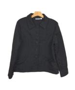 Croft Barrow Evening Jacket L Floral Button Up Black Wear Formal Womens ... - $24.01