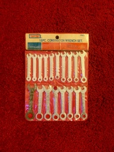 Vintage Tartan 18 pc combination wrench set - unused, in original package