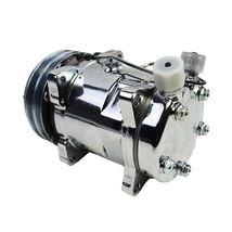 A-Team Performance Sanden 508 Style Silver Clutch V-Belt A/C Compressor, Chrome image 5